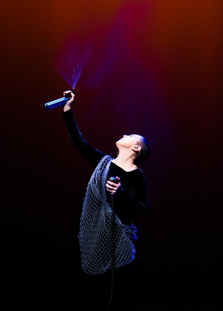 A cantora e compositora brasileira Adriana Calcanhotto