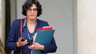 La ministre du Travail Myriam El Khomry à la sortie du conseil des ministres.