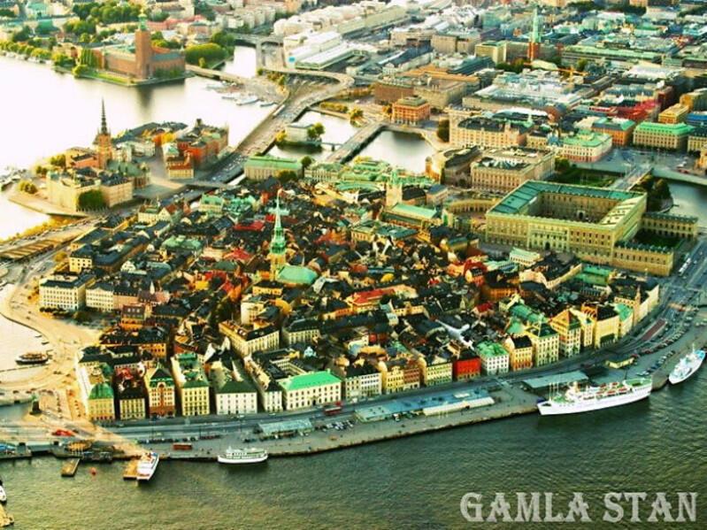 圖為網傳瑞典斯德哥爾摩市中心地圖