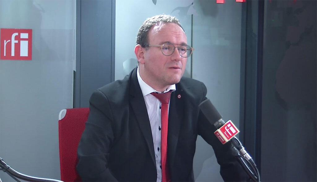 Damien Abad dans les locaux de RFI, le 15 janvier 2020.