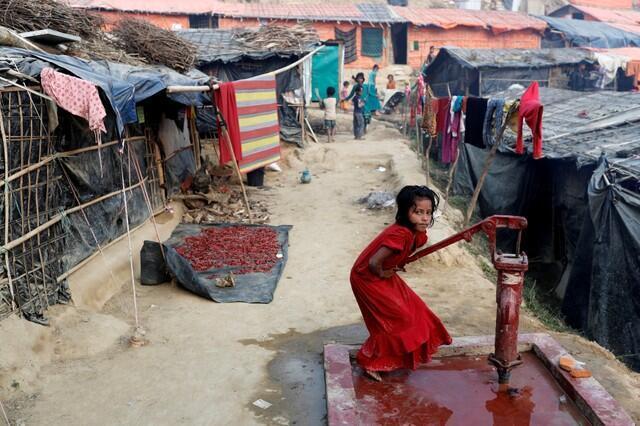 Một trại tị nạn cho người Rohingya ở Bangladesh, ngày 14/01/2018.