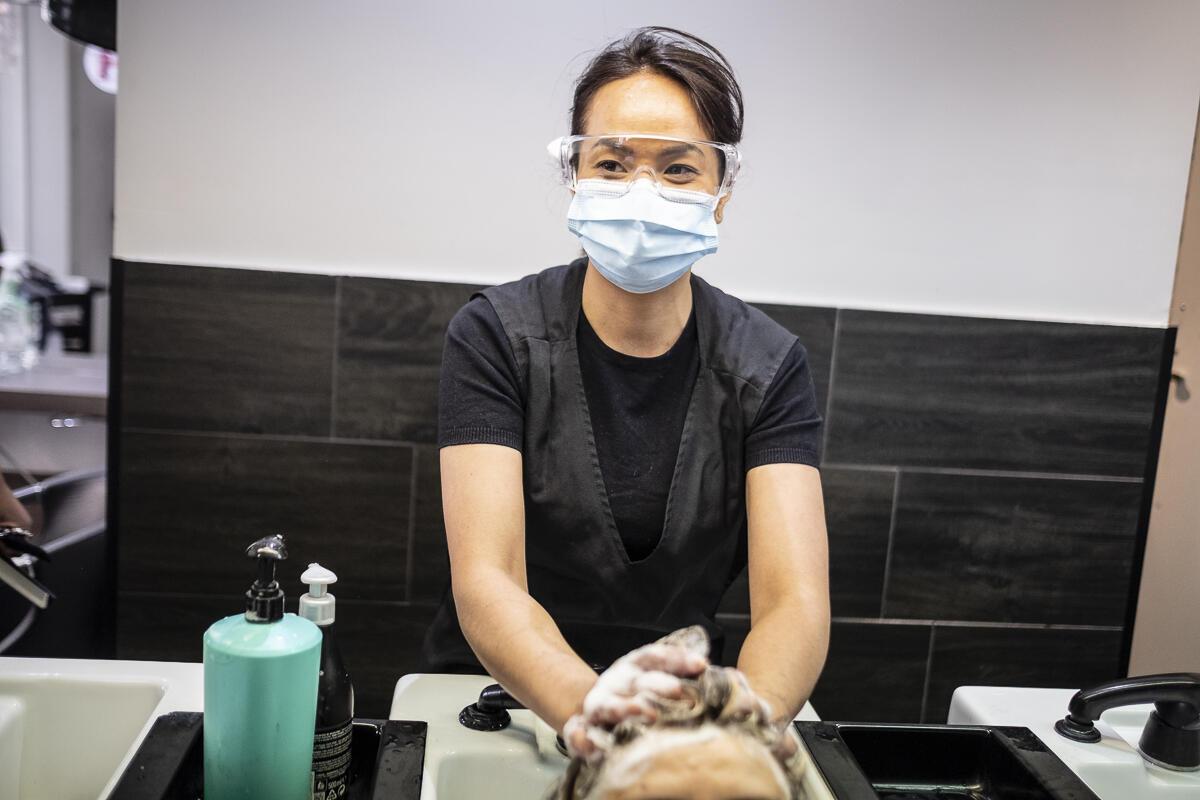 Una peluqueria de Paris, el 12 de mayo de 2020.