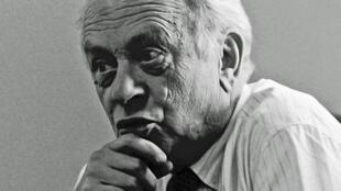 Portrait de Pierre Dumayet réalisé en 1986.