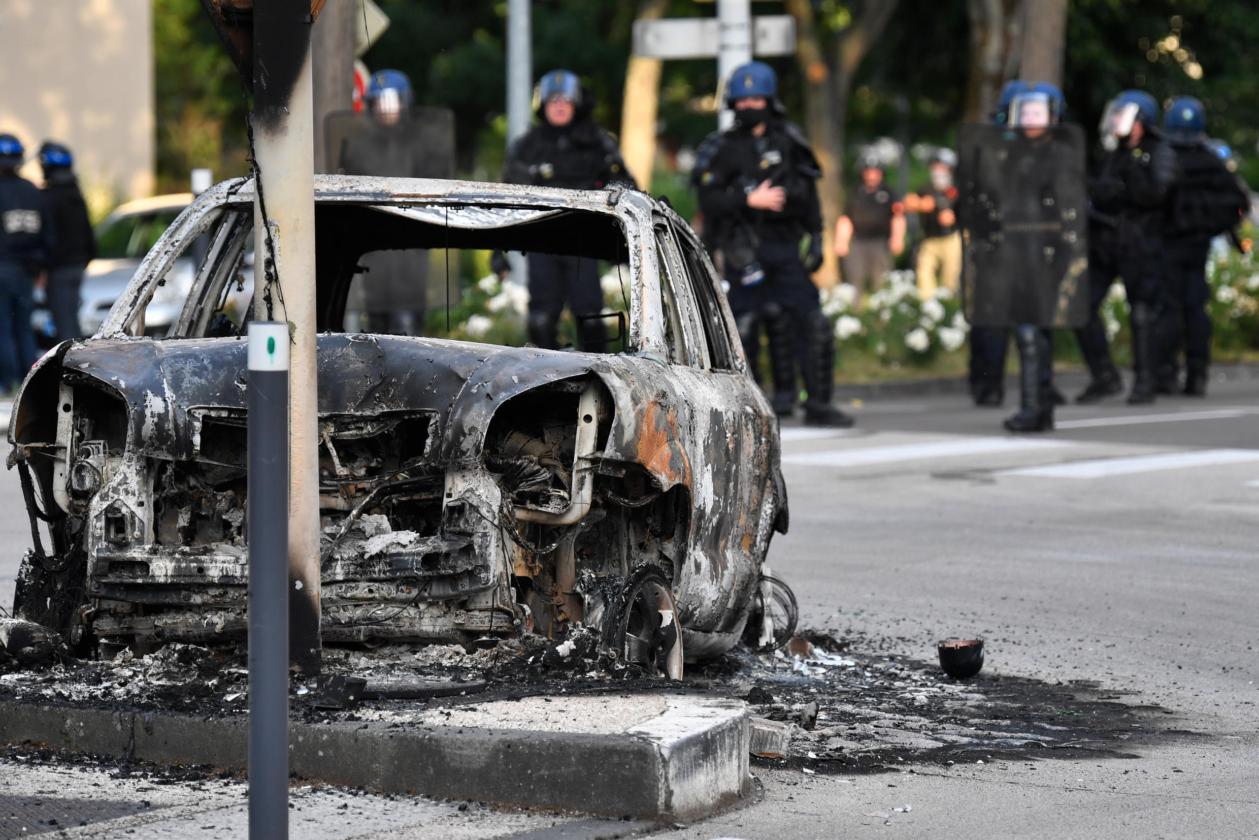 Monday's violence in Dijon was the fourth consecutive night of unrest