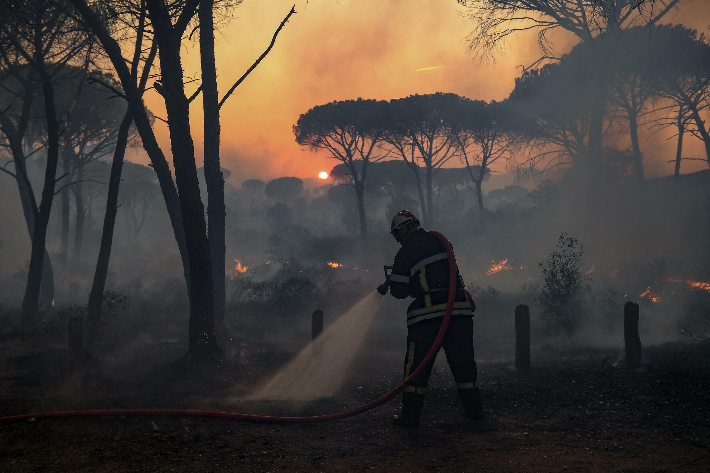 Some 1,200 firefighters were deployed to battle France's worst wildfire of the summer