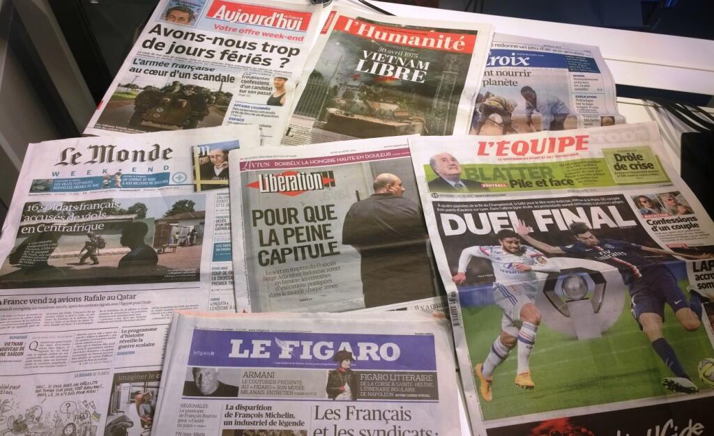 Diários franceses 30/04/2015