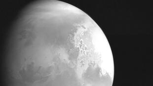 The first image of Mars taken by China's Tianwen-1 unmanned probe.