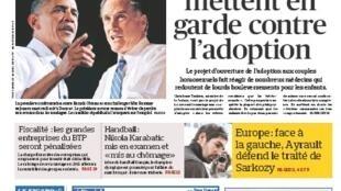 Capa do jornal francês Le Figaro desta quarta-feira, (03)