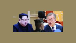 ارتباط تاریخی بین رهبران دو کره شمالی و جنوبی برقرار شد.