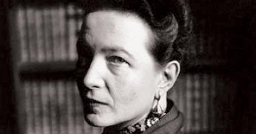 Simone de Beauvoir, 1908-1986.