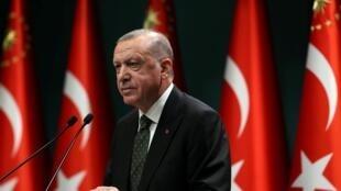 Presidente da Turquia Recep Tayyip Erdogan.