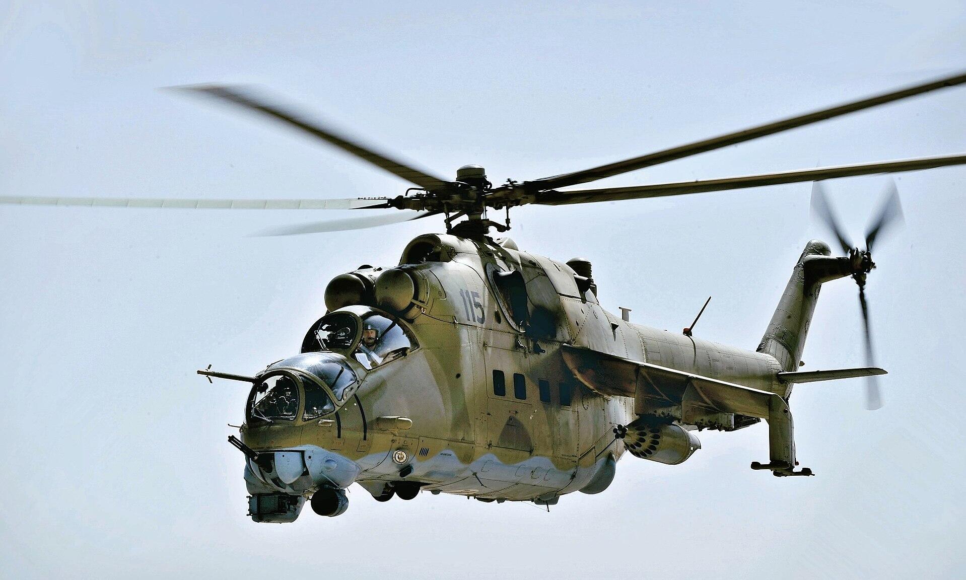 Un hélicoptère MI-24 (Image d'illustration)
