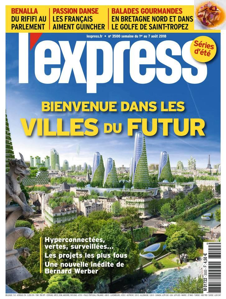 Capa da revista semanal L'Express onde é publicada a reportagem sobre o Rio de Janeiro.