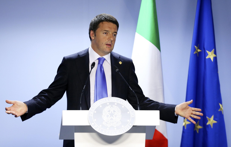 A Itália assume a presidência rotativa da União Europeia. Na foto o primeiro-ministro italiano, Matteo Renzi.