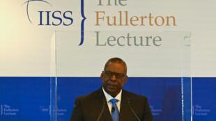 Singapour - Ministre américain de la défense Lloyd Austin 000_9GP2PA