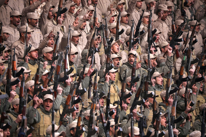 Milices d'auto-défense kurdes à Hasaka, dans le nord-est de la Syrie.