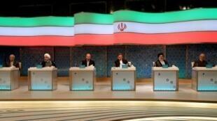 Débat télévisé, en direct le vendredi 28 avril 2017, entre les candidats à la présidentielle iranienne du 19 mai 2017.
