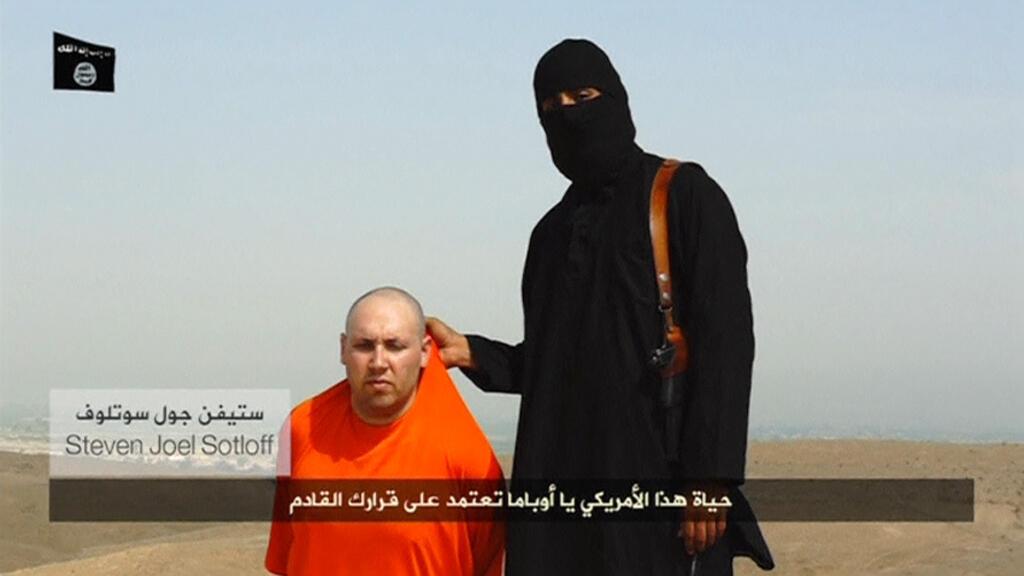 Imagens do vídeo no qual os radicais do Estado Islâmico ameaçam assassinar o jornalista norte-americano, Steven Sotloff.