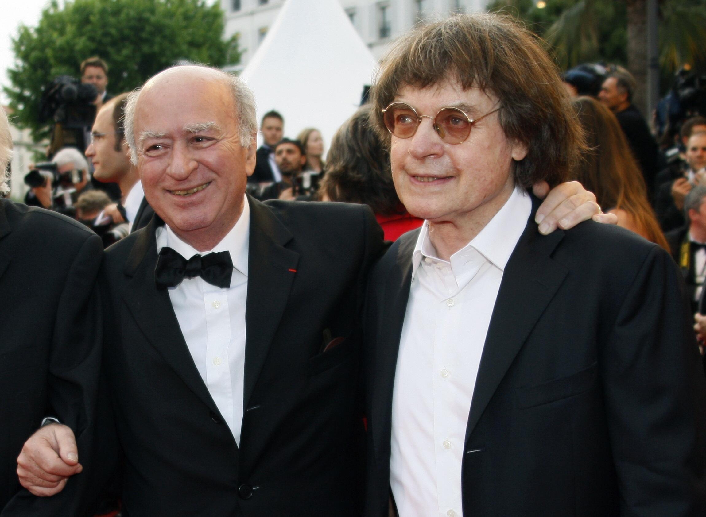 Жорж Волински и Кабю на каннском кинофестивале 17/05/2008 (архив)