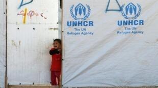 Camp de réfugiés syriens à Mafraq, en Jordanie, près de la frontière syrienne, le 7 décembre 2014.