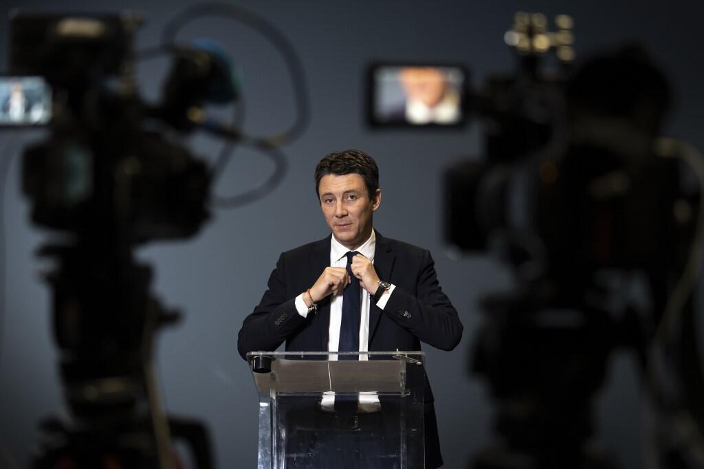 Benjamin Griveaux, ao anunciar sua renúncia em coletiva de imprensa nesta sexta-feira (14).