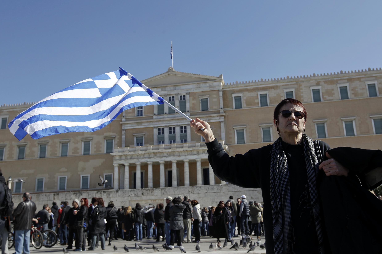 Демонстрация против мер жесткой экономии в Афинах 19 февраля 2012 года
