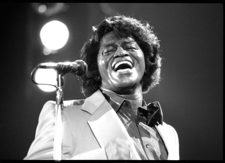 James Brown, en mayo de 1985.