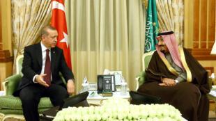 Shugaban Turkiya Erdogan tare da Sarki Salman na Saudiya