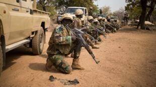 Wasu dakarun Sojin hadaka da ke yakar ta'addanci a Burkina Faso
