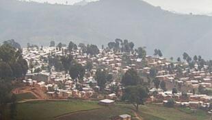 Une vue partielle du Camp de refugiés de Kiziba.
