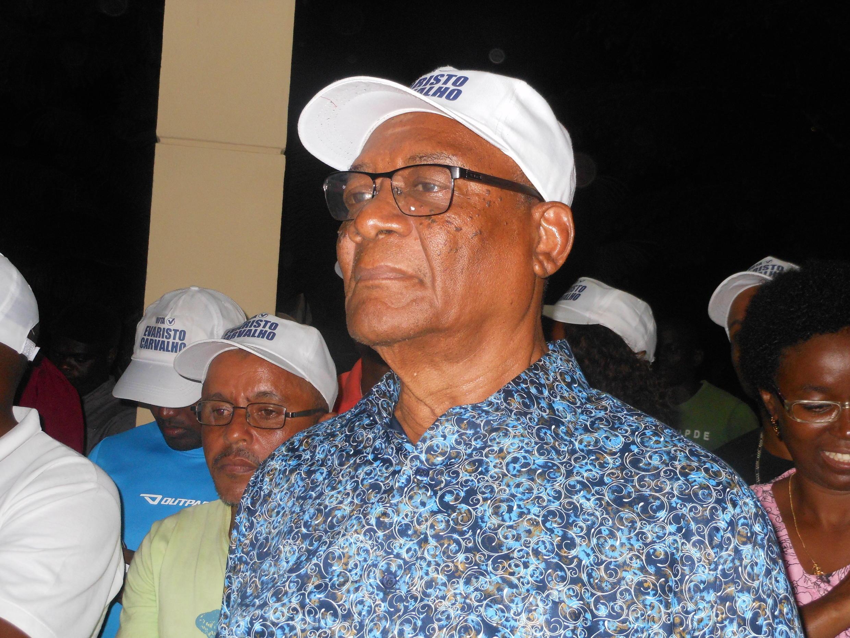Evaristo Carvalho,vencedor das eleições presidenciais em São Tomé e Príncipe