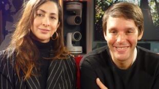Bianca Lee Vasquez y Syd Krochmalny en los estudios de RFI