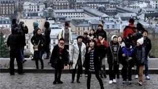 出境游的中国游客