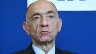 Jean-Marc Janaillac lors d'une conférence de presse à Paris, le 20 avril 2018.