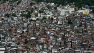 La favela de Rocinha au Brésil.