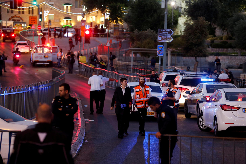Tại nơi xảy ra vụ tấn công, Jerusalem, 16/06/2017.