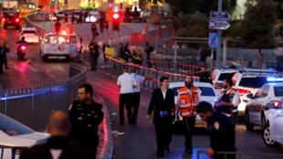 Место теракта в Иерусалиме. 16/06/2017