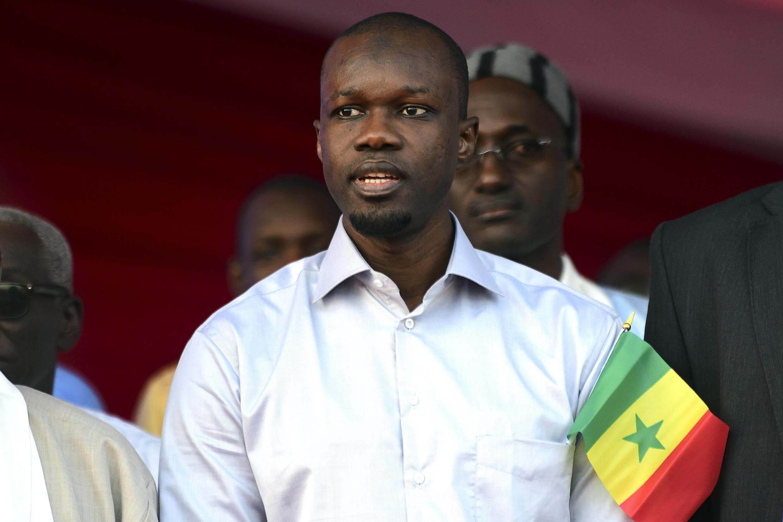 Le candidat à l'élection présidentielle au Sénégal, Ousmane Sonko.