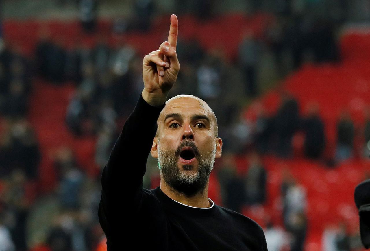 Pep Guardiola, entraîneur de Manchester City.