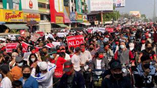 myanmar manifestation - birmanie