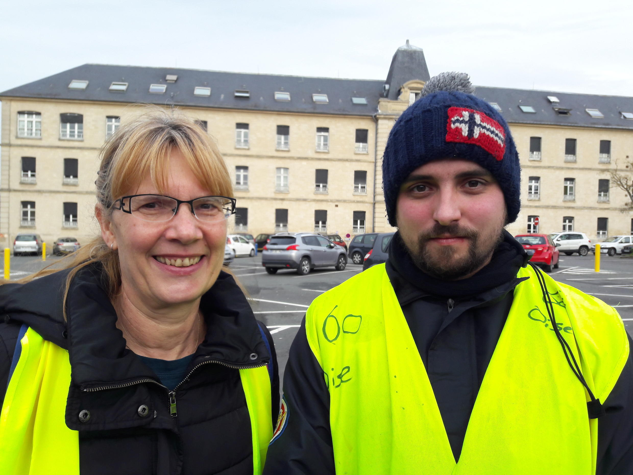 Yellow Vests: Annie Mallon and Kevin Gomes were part of a group of 30 people from Beaumont-sur-Oise who demonstrated on the Champs-Elysées in Paris on 1 December.