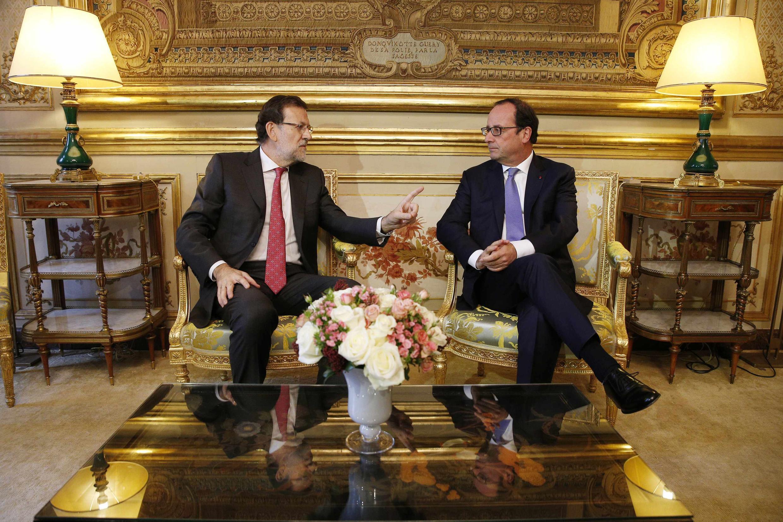 Mariano Rajoy y François Hollande en el Palacio del Elíseo, este 1 de diciembre de 2014.