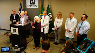 Dr. Jeff Duchin, Health Officer, Public Health of Seattle and King County speaks about the first patient death from the coronavirus in the United States during a news conference in Seattle, Washington, US, February 29, 2020.