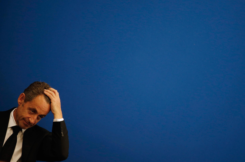 Nicolas Sarkozy, à l'institut George-Pompidou, à Nice, le lundi 10 mars 2014.
