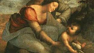 达芬奇的名画《圣母子与圣安娜》