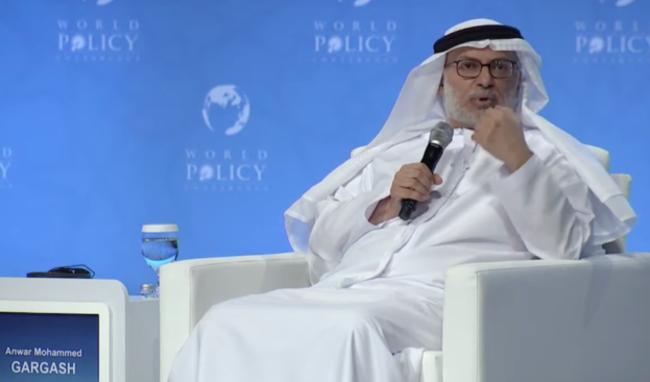 阿联酋总统外交顾问安瓦尔·加尔贾什资料图片