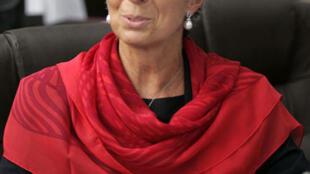 Christine Lagarde, ex ministra de Economía de Francia, durante un encuentro de ministros de Finanzas en Niza (septiembre 2008).