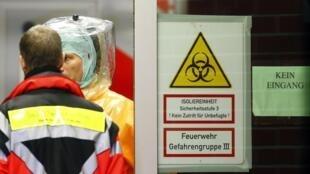 Funcionário da ONU que estava internado na Alemanha com ebola morreu na madrugada desta terça-feira (14). Foto do Hospital Universitário de Frankfurt que está preparado para receber pessoas infectadas com o vírus.