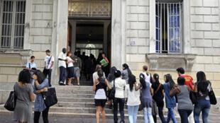 L'entrée d'un lycée en France. (Photo d'illustration)