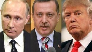 俄罗斯、土耳其、美国三国领导人资料图片